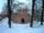 Odtworzona baszta w zimowej szacie. Fot. P. Puton 2011